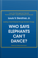 Who Says Elephants Cant Dance?