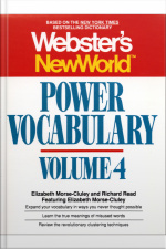 Websters New World Power Vocabulary, Volume 4 [abridged]