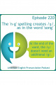 220: The n-g spelling creates /ŋ/, as in the word song