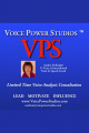 August 2013 Free Voice Analysis Consultation with Vice Coach Sandra McKnight