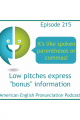 215: Adding bonus information by using a low pitch